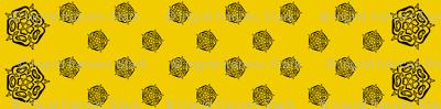 tudor celtic rose small black gold