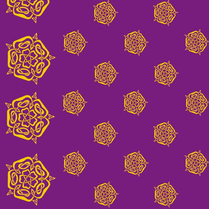 tudor celtic rose small gold purple