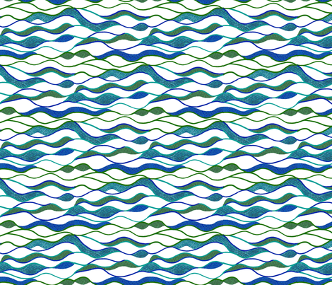 Waves Alone fabric by cricketswool on Spoonflower - custom fabric