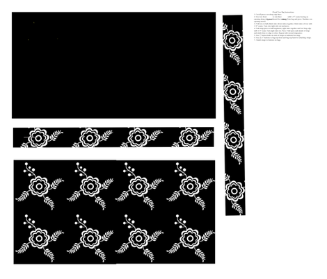 Blackwork Tote fabric by spoonflowercherie on Spoonflower - custom fabric