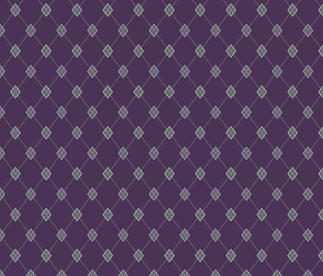 Mini Argyle: Purple, Charcoal, Mint Green fabric by penina on Spoonflower - custom fabric