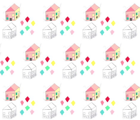 spoonflower_diamond_house3 fabric by blossomnbird on Spoonflower - custom fabric