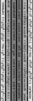 equation stripes - dark grey