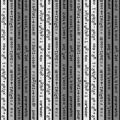 equation stripes - dark grey fabric by sef on Spoonflower - custom fabric