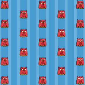 Red Owl aqua Stripes