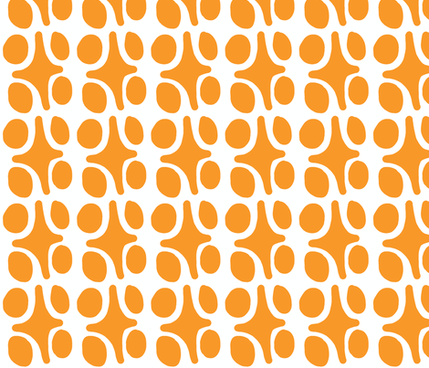 Wacky Moroccan (tangerine) fabric by pattyryboltdesigns on Spoonflower - custom fabric