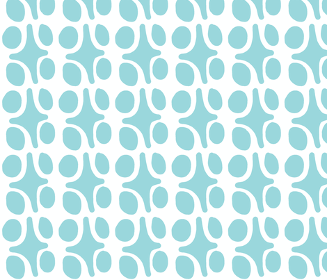Wacky Moroccan (aqua ocean) fabric by pattyryboltdesigns on Spoonflower - custom fabric