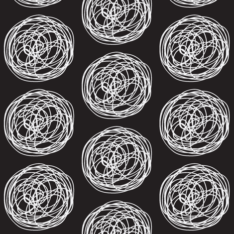 tumbleweed (black & white) fabric by pattyryboltdesigns on Spoonflower - custom fabric