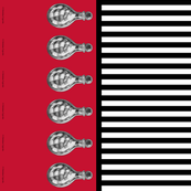 Snake Vial Border on Red with Black and White Stripe