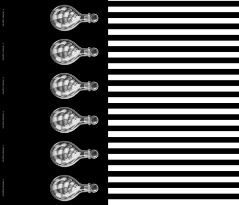 Snake Vial Border on Black with Black and White Stripe fabric by littlemisscrow on Spoonflower - custom fabric