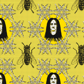 Edgar Allen Black Metal Poe black on yellow