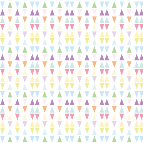 It's raining triangles - Rainbow combo fabric by boeingbleu on Spoonflower - custom fabric