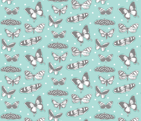 Butterfly Dance fabric by dianef on Spoonflower - custom fabric