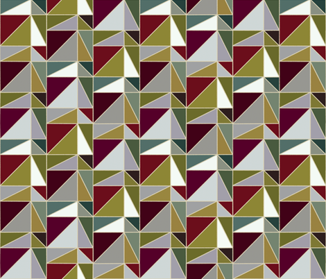 Glass Pyramids fabric by ormolu on Spoonflower - custom fabric