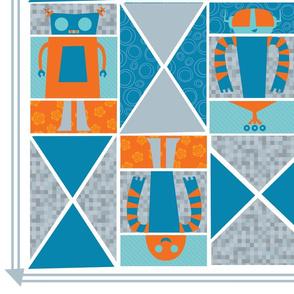 Intergalactic Robot Quilt