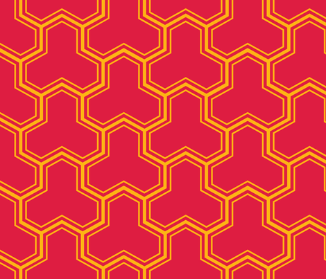 Bishamon Kikko (Red -) fabric by nekineko on Spoonflower - custom fabric