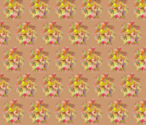 From_Triangle_to_Flower-Tan fabric by patsijean on Spoonflower - custom fabric