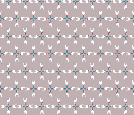 patternbunnystars1 fabric by blossomnbird on Spoonflower - custom fabric