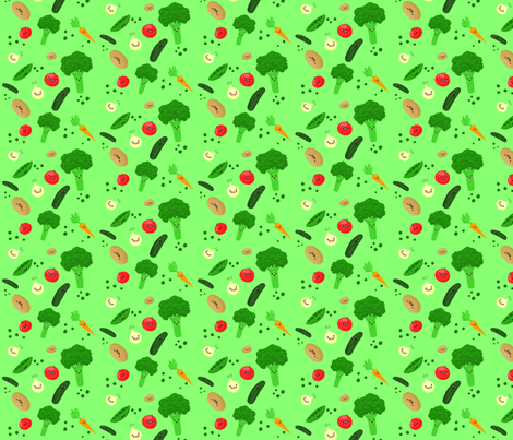 veggie_print_copy fabric by oceanic on Spoonflower - custom fabric