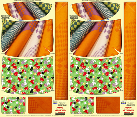 Purse -Picnic fabric by glimmericks on Spoonflower - custom fabric