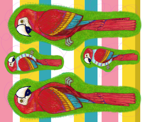 arara- the macaw fabric by cushions_&_co on Spoonflower - custom fabric