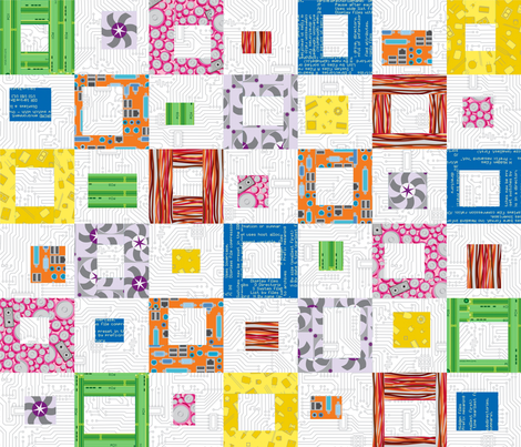 Inside the robot fabric by mariao on Spoonflower - custom fabric