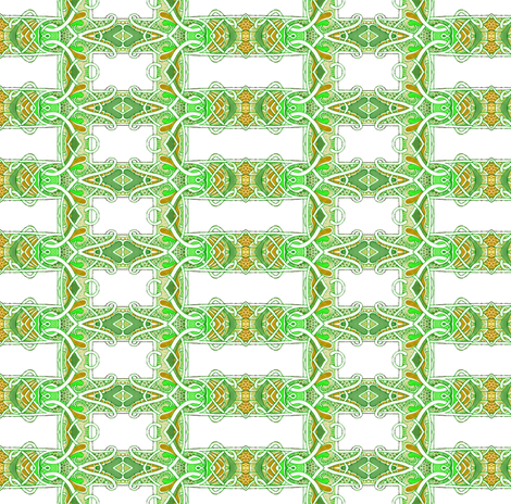 Nouveau Deco Lemon Lime Grid fabric by edsel2084 on Spoonflower - custom fabric