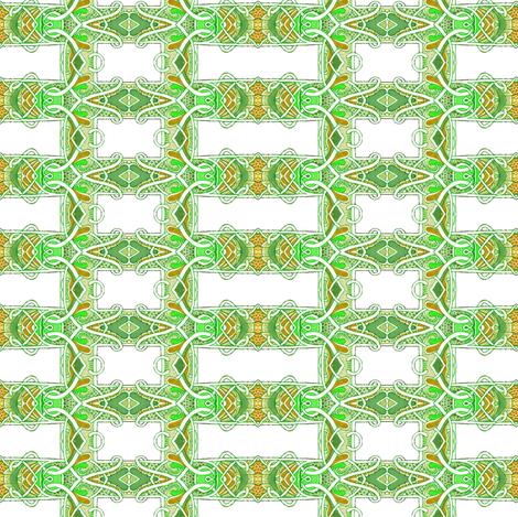 Nouveau Deco Lemon Lime Grid fabric by edsel2084 on Spoonflower - custom fabric