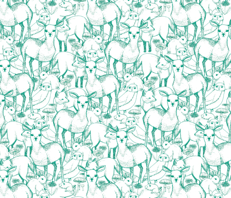 Woodland (Green) fabric by lydia_meiying on Spoonflower - custom fabric