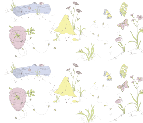 Busy Bugs fabric by sodabyamy on Spoonflower - custom fabric
