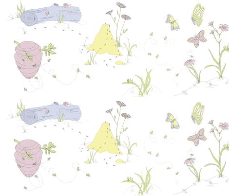 Busy Bugs fabric by sodabyamy on Spoonflower - custom fabric