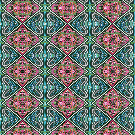 Stained Glass Deco Diamonds fabric by edsel2084 on Spoonflower - custom fabric