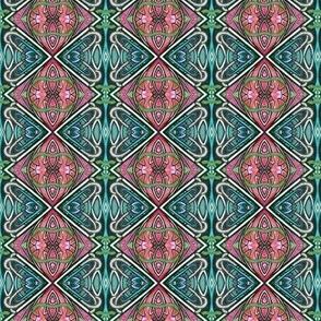 Stained Glass Deco Diamonds