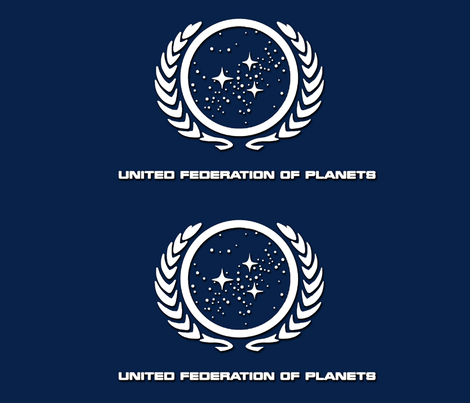 Star Trek: United Federation of Planets fabric by retropopsugar on Spoonflower - custom fabric