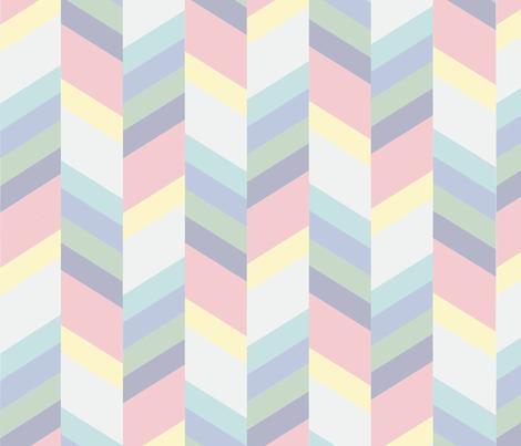 Pastel Rainbow Herringbone
