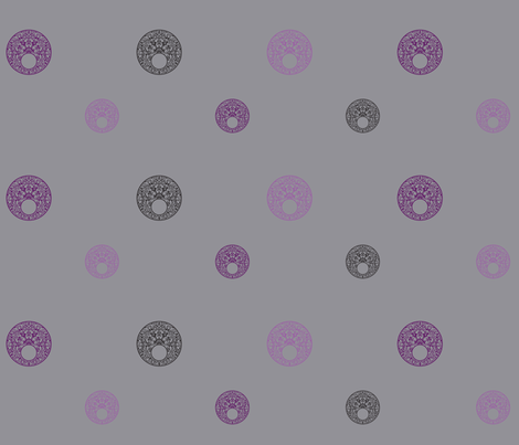 CirclesScatteredGrey fabric by phantomssiren on Spoonflower - custom fabric