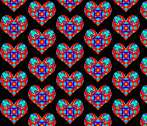 Hearts And Flowers   {Bleeding Hearts) fabric by dovetail_designs on Spoonflower - custom fabric