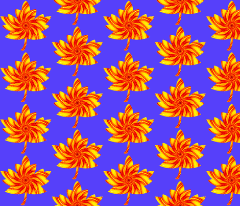 Autumn - Fall Leaves  fabric by dovetail_designs on Spoonflower - custom fabric