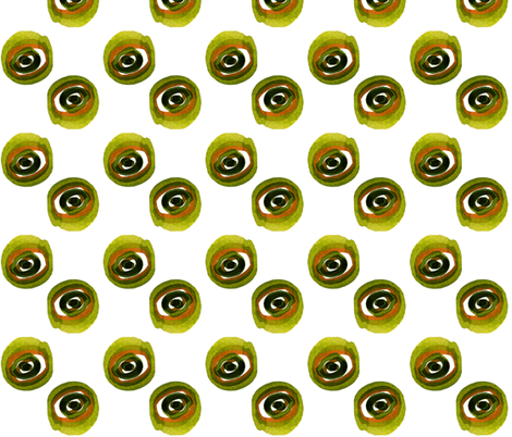 C'EST LA VIV_ evil green eye ( katrina) fabric by cest_la_viv on Spoonflower - custom fabric