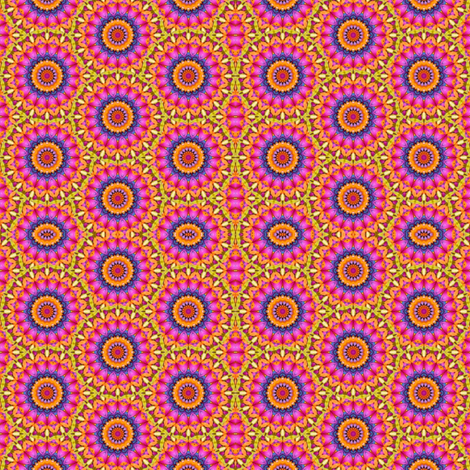 Peter's Painted Petals - Flower Power 8  fabric by dovetail_designs on Spoonflower - custom fabric