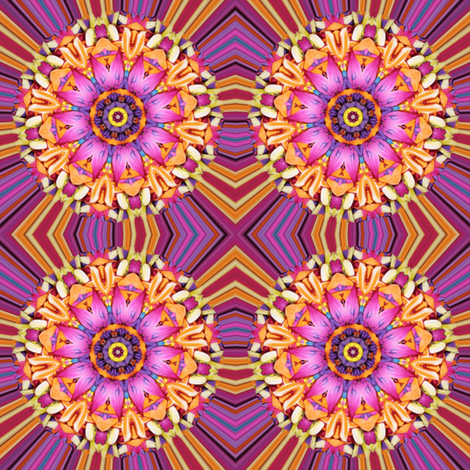 Peter's Painted Petals - Flower Power 13 fabric by dovetail_designs on Spoonflower - custom fabric