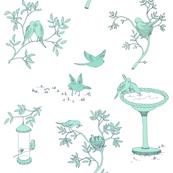 Lovebird Toile - Blue