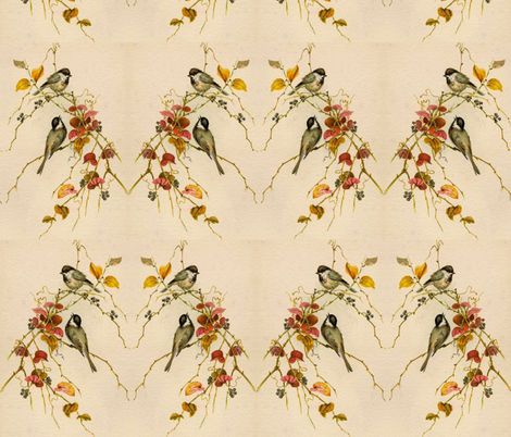 CHICKADEES fabric by bluevelvet on Spoonflower - custom fabric