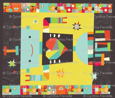 A Robot in Love Cheater Quilt