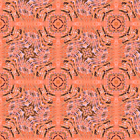 Coral Zebra Play fabric by wren_leyland on Spoonflower - custom fabric