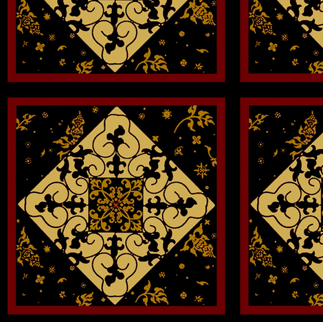parisian tile fabric by paragonstudios on Spoonflower - custom fabric