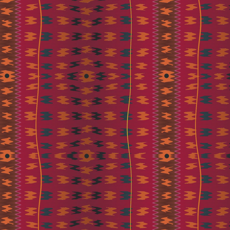 Tandori Wall (Ceremonial) fabric by david_kent_collections on Spoonflower - custom fabric