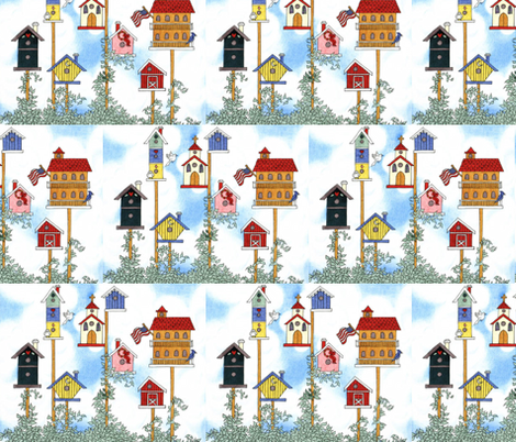 BIRD CITY fabric by bluevelvet on Spoonflower - custom fabric