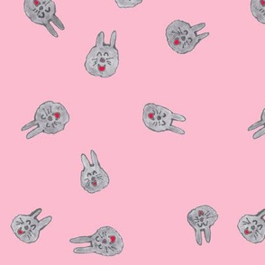Dust Bunnies on Pink
