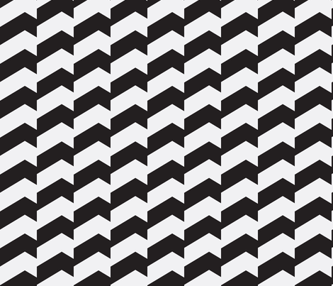 Broken Chevron Black & White fabric by stoflab on Spoonflower - custom fabric